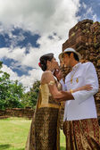 Asia Wedding couple in Thai suit — Stock Photo
