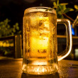Glass of light beer — Stock Photo
