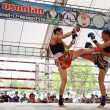Thai boxing match at Muay Thai Fight Fastival — Stock Photo
