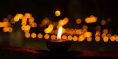 Candle in Buddha Temple — Stock Photo