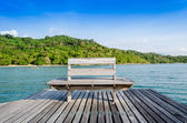 Chair on the shore near the sea in Thailand — Stock Photo