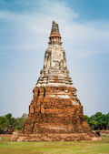 Old pagoda at Wat Chaiwatthanaram in Ayutthaya,Thailand — 图库照片