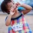 Portrait of a little Asian baby child girl  — Stock Photo