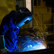 Stock Photo: Welding with sparks