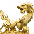 Giant golden Chinese dragon — Stock Photo #35697531