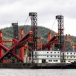 Stock Photo: Dredger ship at harbor