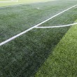 Soccer green field — Stockfoto