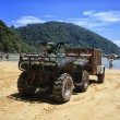 Stock Photo: Big ATV on the beach