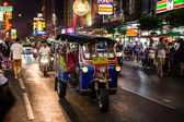 Tuk - tuk on Chinatown street — Stock Photo