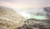 Crater of volcano Ijen. — Stock Photo