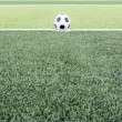 Soccer ball on the green field — Stock Photo #43077061