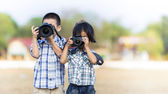 Kids photographer — Stockfoto