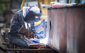 Welding work — Stock Photo