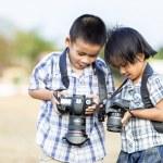 Kids photographer — Stock Photo #47608819