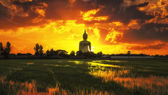 The Big Golden Buddha on sunrise — Stock Photo