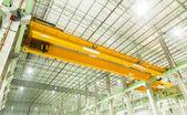 Factory overhead crane — Stock Photo