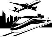 CIty and Urban Transportation — Stock Vector
