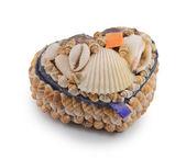 A box of seashells — Stock Photo
