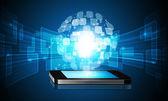 Technology glabal background — Stock Photo