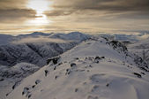 Glencoe mountains in WInter — Stock Photo
