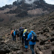 Stock Photo: Trekkers on Kilimanjaro