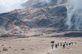 Porters on Kilimanjaro — Stock Photo