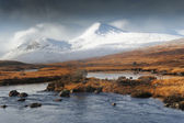 Snows on Rannoch Moor Hills — Stock Photo