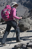 Lady in Pink Kilimanjaro — Stock Photo