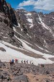 Descending from Toubkal — Stock Photo
