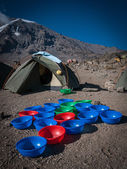 Washy washy time on Kilimanjaro — Stock Photo