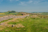 Walking Hadrians Wall — Stock Photo