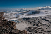 Inside the crater rim, Kilimanjaro — Stock Photo