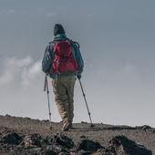 The long walk home, Kilimanjaro — Stock Photo