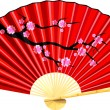 Fan japan — Stock Vector