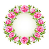 Rose wreath — Stock Vector
