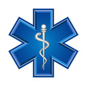 Emergency medical symbol — Stock Vector