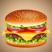 Cheeseburger — Stock Vector