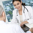 Female doctor meeting patient  — Stock Photo