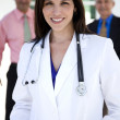 Smiling Hispanic female doctor — Stock Photo