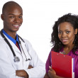 African doctor and nurse  — Stock Photo
