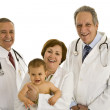 Doctors with toddler baby — Stock Photo