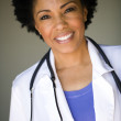 Smiling female doctor — Stock Photo