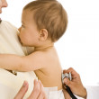 Infant Getting Medical Exam — Stock Photo