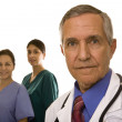 Doctor and two nurses — Stock Photo