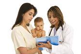 Baby at medical exam — Stock Photo