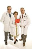 Three senior doctors — Stock Photo