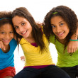 Multi-ethnic female group — Foto Stock