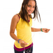 Teenager listen MP3 player — Stock Photo