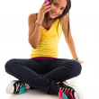 Teenage talking on cellphone — Stock Photo