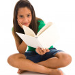 Girl holding book — Stock fotografie